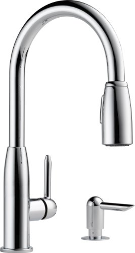 Peerless P188103LF-SD Apex Single Handle Kitchen Pull-Down with Soap Dispenser, Chrome (Peerless Single Handle Faucet compare prices)