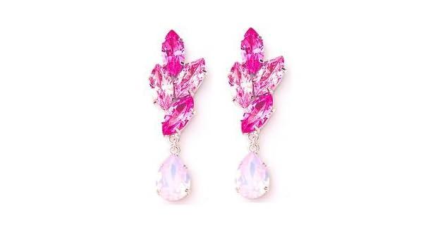 b3c0813eaebaa Amazon.com: Swarovski Crystal Marquise Leaves Teardrop Earrings in ...