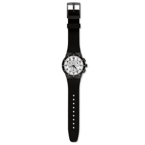 Swatch SUSB401 Chrono Plastic Twice Again Black Watch ()