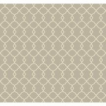 (York Wallcoverings WM2574 Williamsburg Chippendale Fret Wallpaper, Grey/Cream )