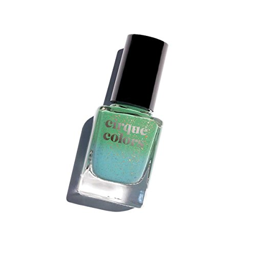 - Cirque Colors Thermal Temperature Color Changing Mood Nail Polish - Magic Turquoise - Speckled - 0.37 fl. oz. (11 ml) - Vegan, Cruelty-Free, Non-Toxic Formula