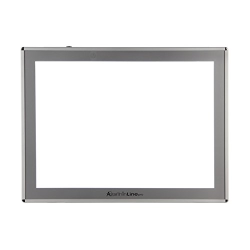Acurit Thin Line LED Light Box Professional Solid Aluminum LED Tracing Tablet Dimmable LED Light Pad Optical Quality Surface Artist Drawing Sketching Animation Designing Stenciling Tracing Area 12x17'' by Acurit