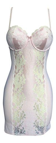 Bodycon Ex Calle rosada del bebé del cordón de deslizamiento plena de la mujer, debajo del vestido - Todos los tamaños