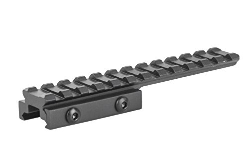 12 Slots 0.5'' Low Profile Picatinny Rail Bridge Mount BM1205EX by Lion Gears