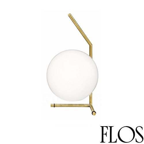 Flos IC T1 Low Table Lamp Blown Glass and Brass F3171059 Design Michael Anastassiades - Glass Flo