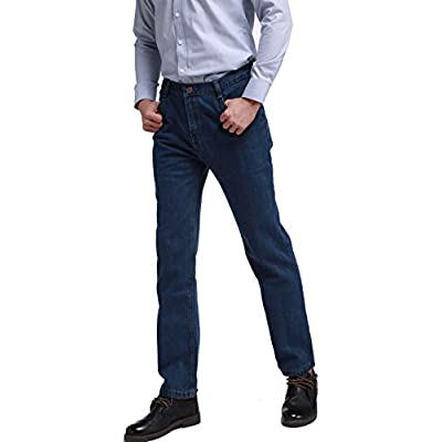 dk.classickelvin Men's Wrinkle-Resistant Slim Fit Relaxed Fit Denim Jeans Indigo at  Men's Clothing store
