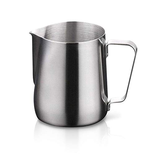 Stainless Steel Milk Frothing Pitcher Cappuccino Pitcher Pouring Jug Espresso Cup Creamer Cup for Latte Art, 12 Ounce (350 ML) ()