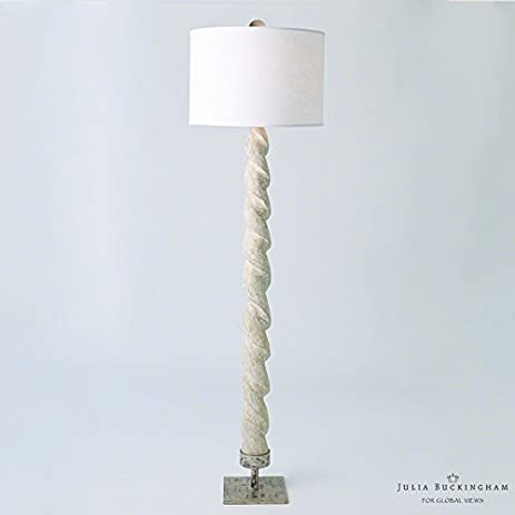 Amazon global views frenchy country twisted weathered wood global views frenchy country twisted weathered wood floor lamp with white shade aloadofball Choice Image