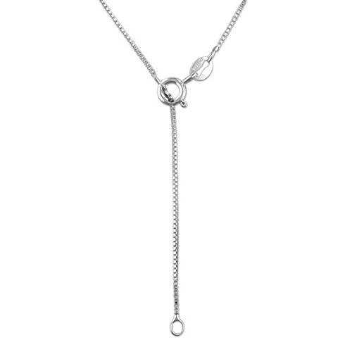 Sterling Silver 1mm Box Chain Necklace Bracelet Anklet Solid Italian Nickel-Free, 7-36 Inch 10 Inch Hawaiian Silver Jewelry HSJCHBX015A.10
