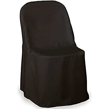 Lannu0027s   10 Wedding Folding Chair Covers   Black Polyester Cloth