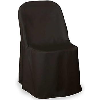 Amazoncom Black Folding Chair Covers Set of 10 Chair Sash Not