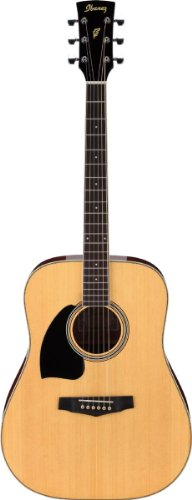 Ibanez Performance Series PF15 Left Handed Dreadnought Acoustic Guitar Natural ()