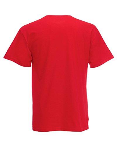 Fruit of the Loom - Camiseta de manga larga - para mujer Rosso