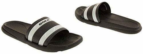 Footwear Studio - Zuecos para hombre Negro y Blanco