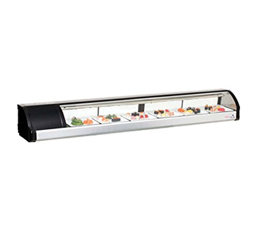 Self Service Refrigerated Display Case (Everest ESC83L Self Contained Countertop Refrigerated Display Case - Left Comp Mount 82.63L x 14W)