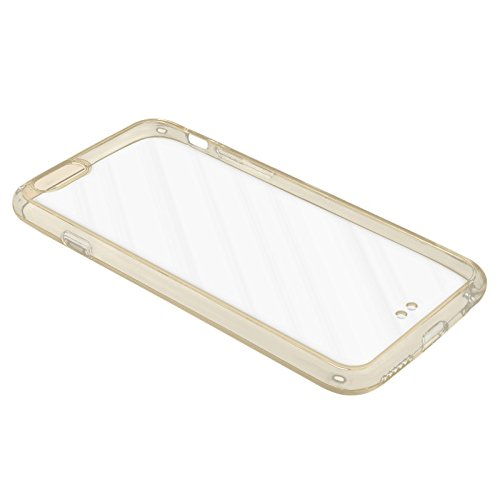 eFabrik Hülle für Apple iPhone 6 ( 4.7 Zoll ) Tasche Case Cover Schutzhülle Schutztasche Handyhülle TPU Silikon Acryl Glas transparent gold