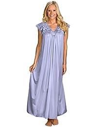 Women's Plus-Size Silhouette 53 Inch Short Cap Sleeve Long Gown