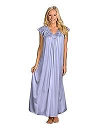 "Shadowline Womens Plus-Size Silhouette Plus Size 53"" Short Cap Sleeve Long Gown"
