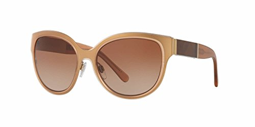 Burberry Women's BE3087 Sunglasses Light Gold / Brown Gradient 57mm & Cleaning Kit Bundle