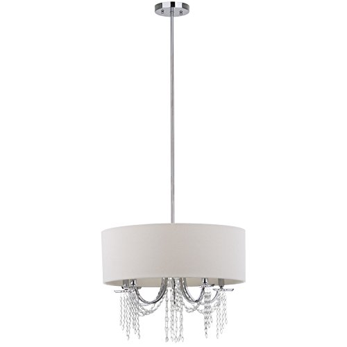 Safavieh Lighting Collection Cotillion Chrome 49.25-inch Pendant Light