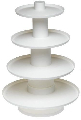 Wilton 4 Tier Stacked Muffin Cupcake And Dessert Tower Appetizer Wedding Display