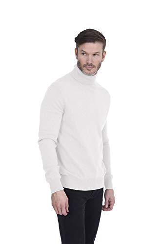 Vest V-neck Performance Sweater (Cashmeren Men's 100% Pure Cashmere Turtleneck Long Sleeve Pullover Sweater (Ivory, Large))