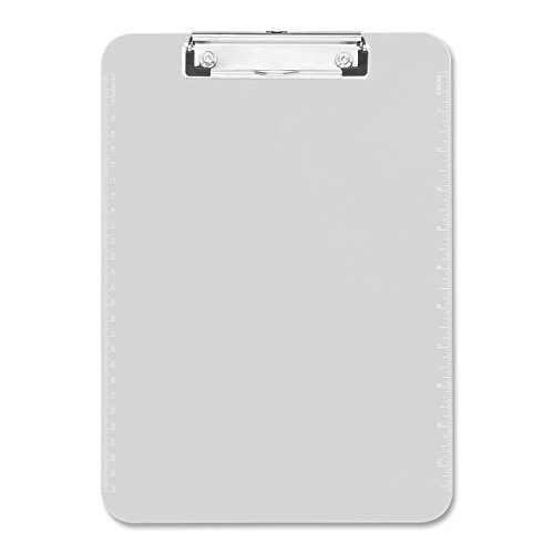Sparco Plastic Clipboard, with Flat Clip, 9 x 12 Inches, Clear (SPR01869) -