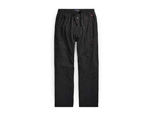 RALPH LAUREN Polo Men's Flannel Pajama Pant Black/Red (M)