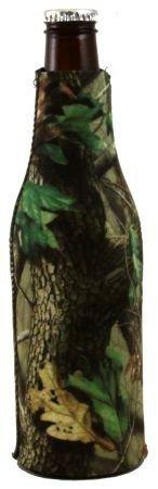 (Realtree Hardwoods Camo Bottle Zipper Koozie Cooler)