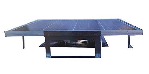 (Amtrak Solar 70 Watt Most Powerful Galvanized Steel Roof Mounted Solar Attic Fan Quietly Cools Your House Ventilates Your House, Garage)