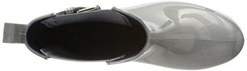 Tommy Hilfiger Ladies O1285xley 14v3 Stivali Di Gomma Grigi (argento)