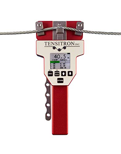 Tensitron ACX-500-1 Digital Aircraft Cable Tension Meter 40-500 lbs for 3/32 in, 1/8 in, 5/32 in Cables