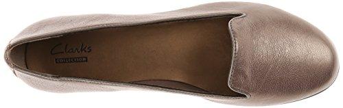 Flat Harper Clarks Grey Greely Leather UgRRnP
