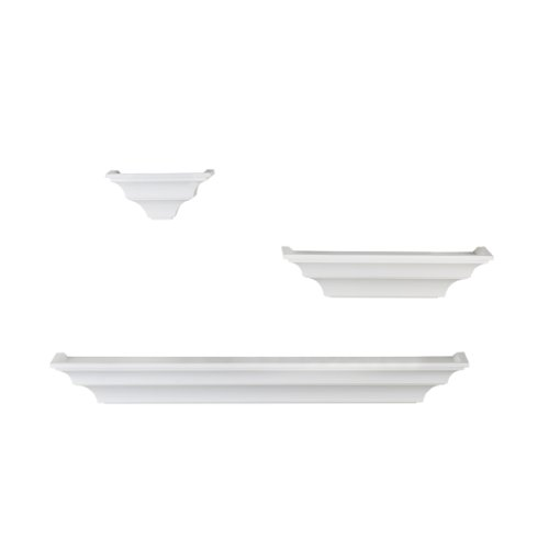 Melannco Shelves (Solid White, Set of 3)