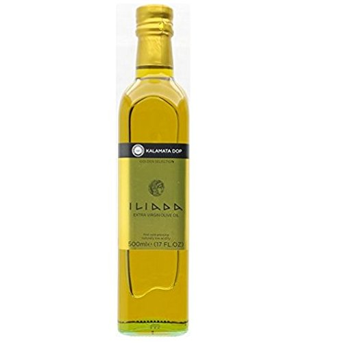 (Iliada Kalamata Greek Extra Virgin Olive Oil , 17-Ounce Glass Bottles (Pack of 3) )