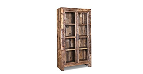 Rustic Bookcase Cabinet (Crafters and Weavers Fulton Rustic Fulton Solid Wood Bookcase / Chna)