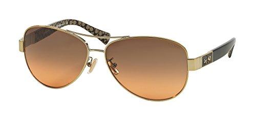COACH Women's 0HC7047 Gold One - Sunglasses Coach Polarized