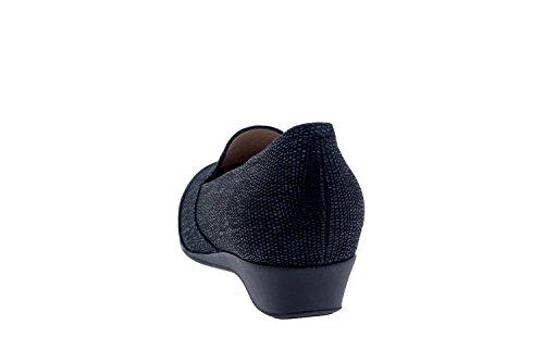 Calzado mujer confort de piel Piesanto 7730 zapato casual cómodo ancho Negro