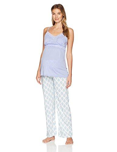 Belabumbum Women's Violette Maternity and Nursing Cami/Pant Pajama Set, ()