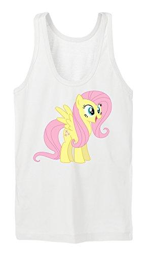 Fluttershy Pony Tanktop Girls Bianco