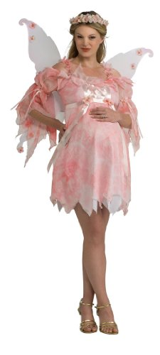 Maternity Costumes (Rubie's Costume Mommy To Be Maternity Fairy Costume, Pink, One Size)