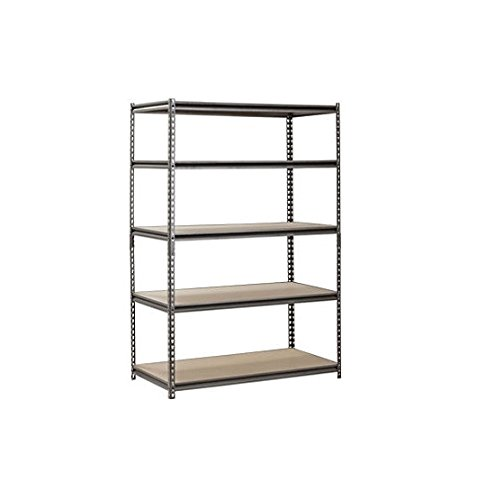 Muscle Rack 48''W x 24''D x 72''H 5-Shelf Steel Shelving, Black