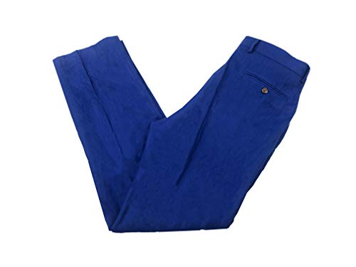 Lauren Ralph Lauren Men's Classic-Fit Solid Linen Dress Pants (Blue, 33W 32L) ()