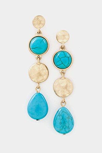 Judith Ripka Gemstone Ring (Karmas Canvas Nugget with Gem Stone Drop Dangle Earring (WG/TQ))
