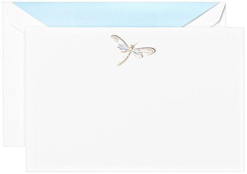 - Crane & Co. Engraved Dragonfly Correspondence Card (CC3505)