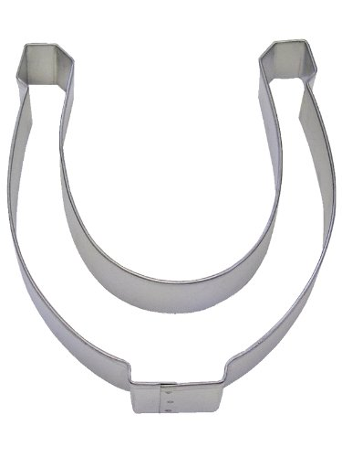 CybrTrayd R&M Horseshoe Tinplated Steel Cookie Cutter, 5-Inch, Silver, Bulk Lot of 12