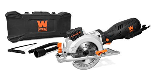 WEN 3625 5-Amp 4-1/2-Inch Beveling Compact Circular Saw with Laser