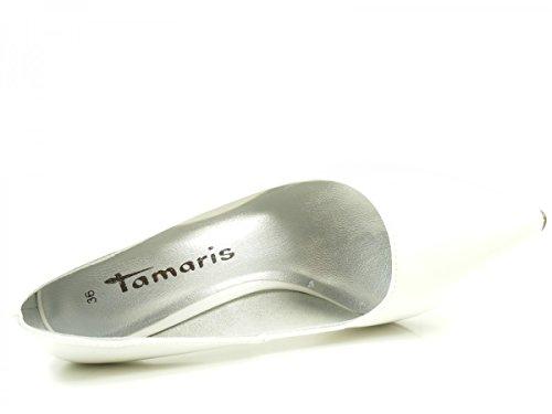 Tamaris 22447, Zapatos de Tacón para Mujer Weiß