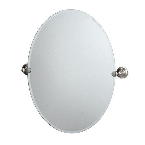 (Gatco 4339 Tiara Oval Wall Mirror, Satin Nickel)