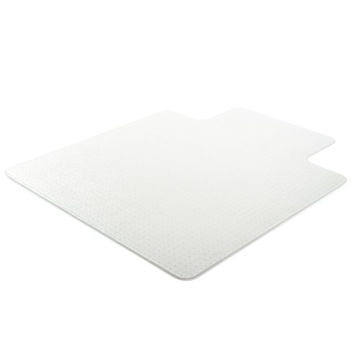 Deflecto UltraMat Clear Chair Mat, High Pile Carpet Use, Rectangle With Lip, Beveled Edge, 36 x 48 Inches (CM16113)